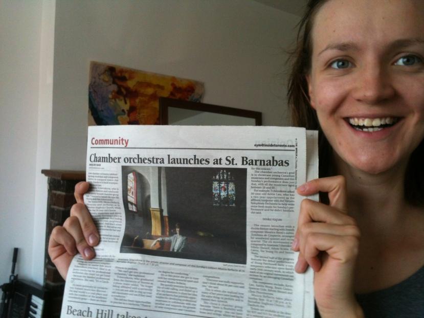 First Newspaper Feature!